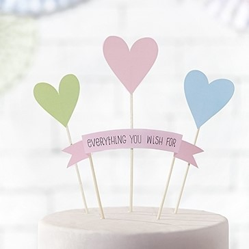 "Cake Topper ""everything you wish for"""
