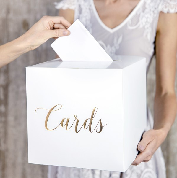 "Geldbox ""Cards"" gold"
