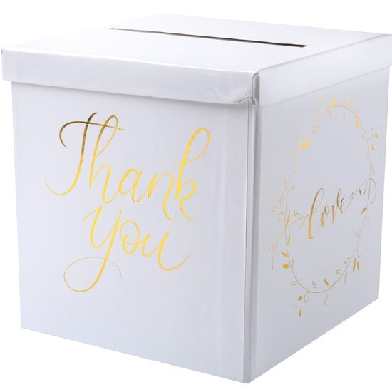 "Geldbox ""Thank you"" gold"